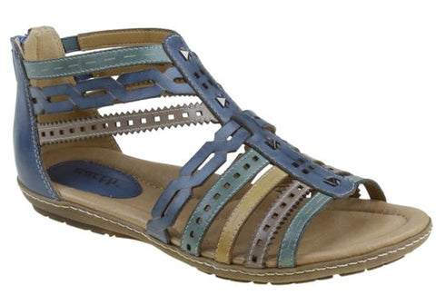 Earth Bay 2 Womens Comfortable Leather Gladiator Sandals