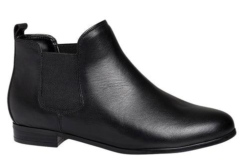 Hush Puppies Adriana Womens Leather Chelsea Style Ankle Boots