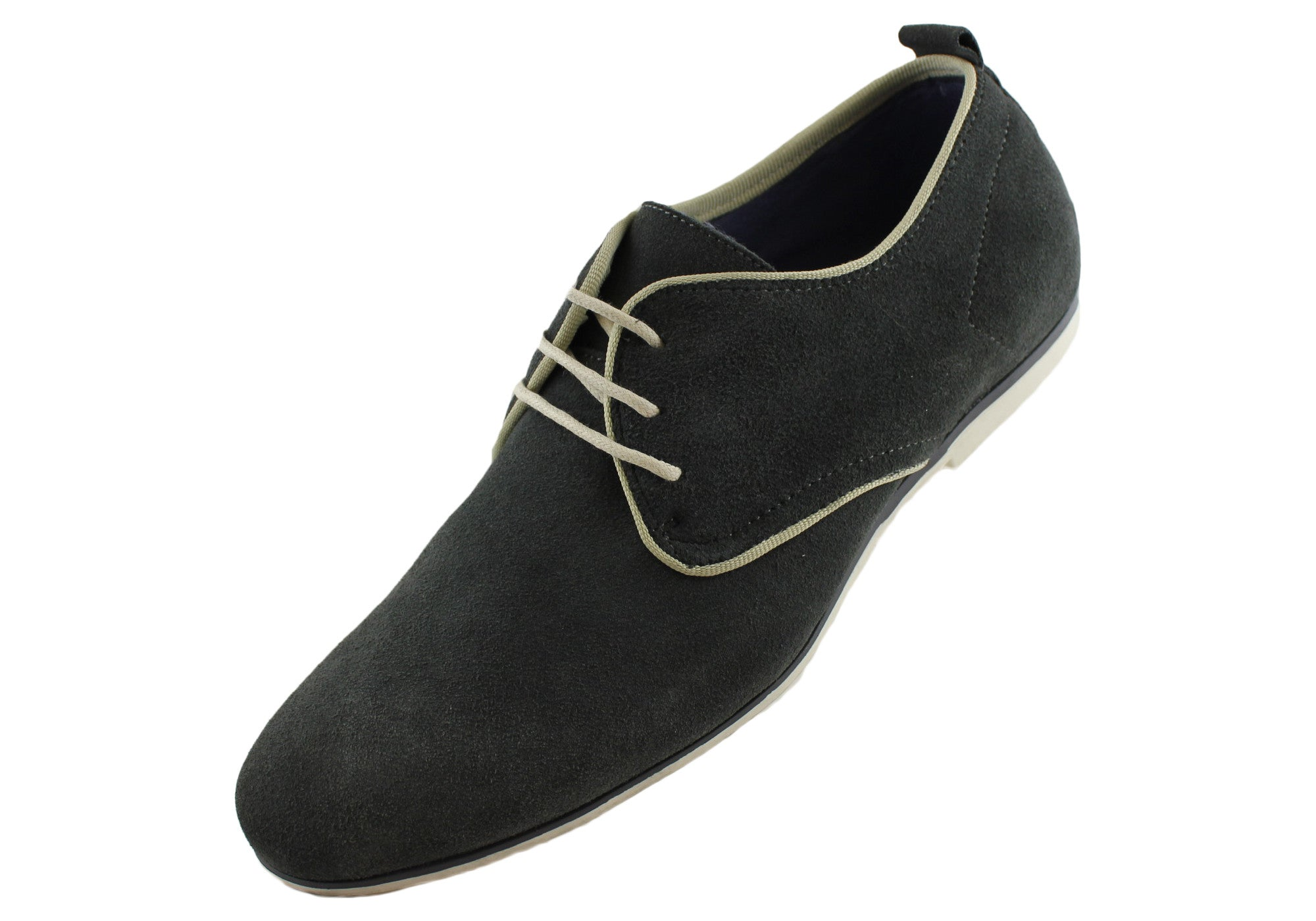 Grizzly Mens Fashion Leather Suede Shoes