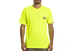 Caterpillar Mens Hi Vis Trademark Pocket Tee