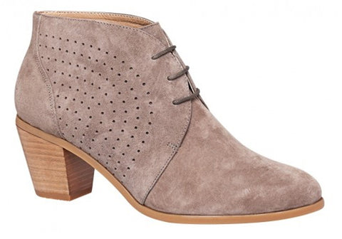 Hush Puppies Carine Womens Suede Mid Heel Ankle Boots