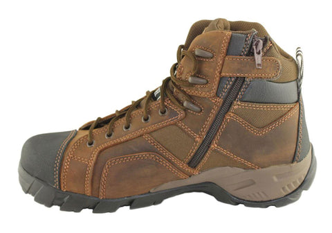 Caterpillar Cat Argon Hi Side Zip Mens Steel Toe Worksafety Boots