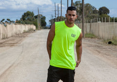 Caterpillar Mens Hi Vis Sleeveless Tee