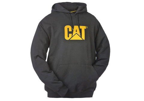 Caterpillar Mens Trademark Hooded Black Sweatshirt
