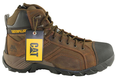Caterpillar Cat Argon Hi Side Zip Mens Steel Toe Work/Safety Boots