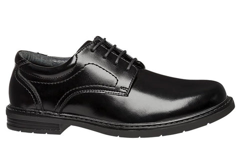 Hush Puppies Daly Mens Dress Lace Up Black Shoes Extra Wide Fit