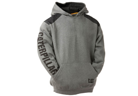 Caterpillar Mens Comfortable Versatile Logo Panel Hooded Sweat Shirt