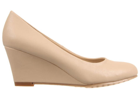 Kalinya Darla Womens Nude Wedge Heel Shoes