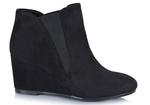Lavish Ella Womens Fashion Wedge Boots