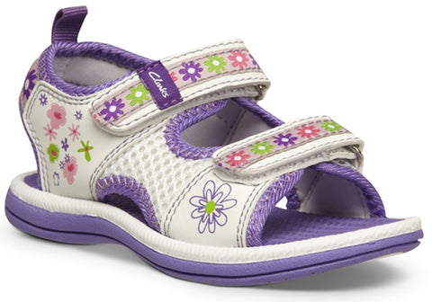 Clarks Feisty Toddler Girls Adjustable Sandals