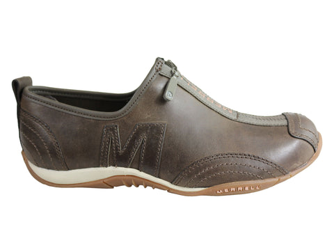 Merrell Barrado Luxe Womens Leather Comfortable Casual Zip Shoes