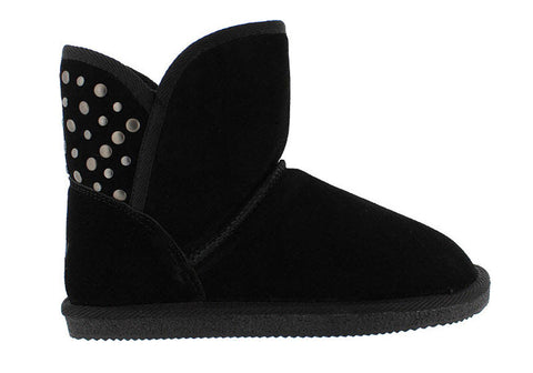 Grizzly Beckton Womens Merino Wool Leather Fashion Ankle Boots