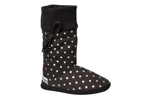 Grosby Womens Hoodies Spots Indoor Booty Slippers
