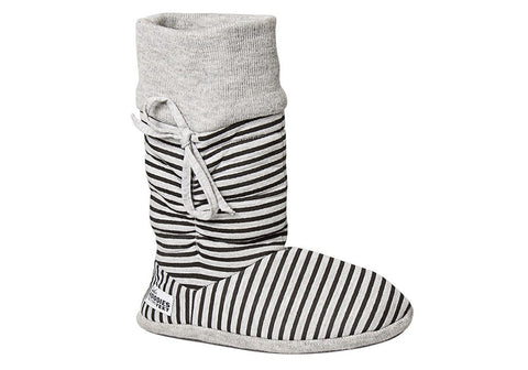 Grosby Womens Hoodies Stripes Indoor Booty Slippers