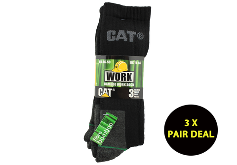 3 Pairs of Caterpillar Mens Bamboo Socks