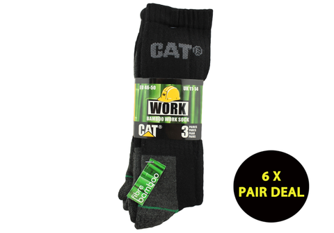 6 Pairs of Caterpillar Mens Bamboo Socks