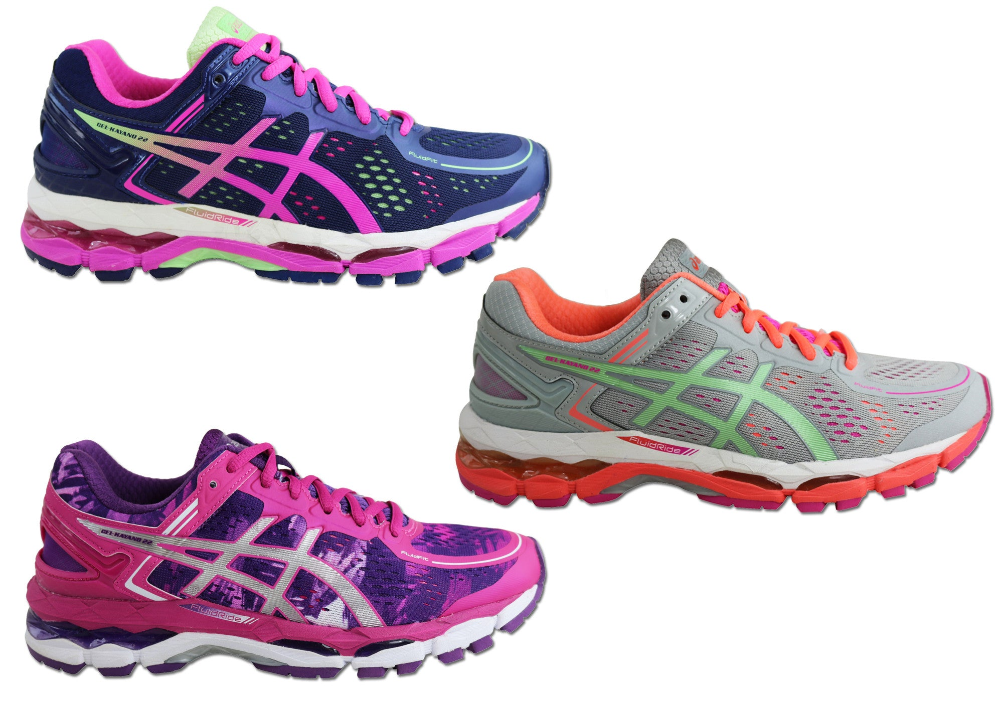 new asics womens gel kayano 22 premium cushioned shoes ebay. Black Bedroom Furniture Sets. Home Design Ideas