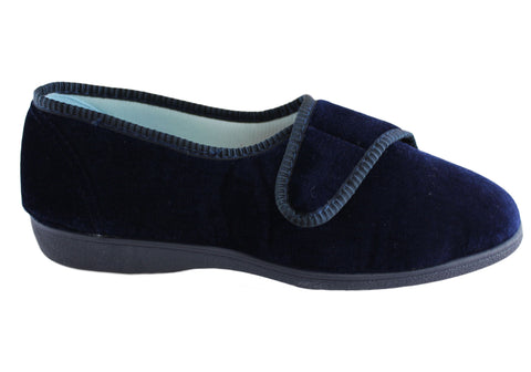 Grosby Lilian Womens Comfortable Indoor Slippers With Adjustable Strap