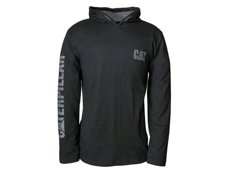 Caterpillar Mens Long Sleeve Hooded Tee