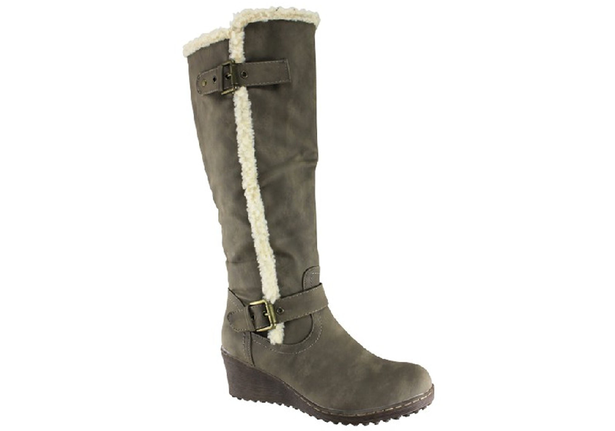 New Bellissimo Boots New Maria Womens Wedge Knee High Boots Bellissimo 71e639