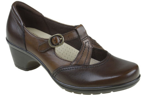 Planet Shoes Machi Womens Leather Mid Heel Shoes
