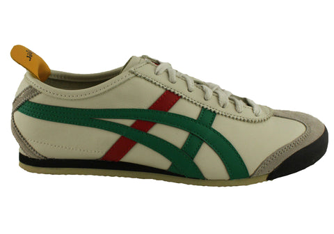 on sale b771b 91608 Asics Onitsuka Tiger Mexico 66 Mens Leather Lace Up Casual Shoes | Brand  House Direct