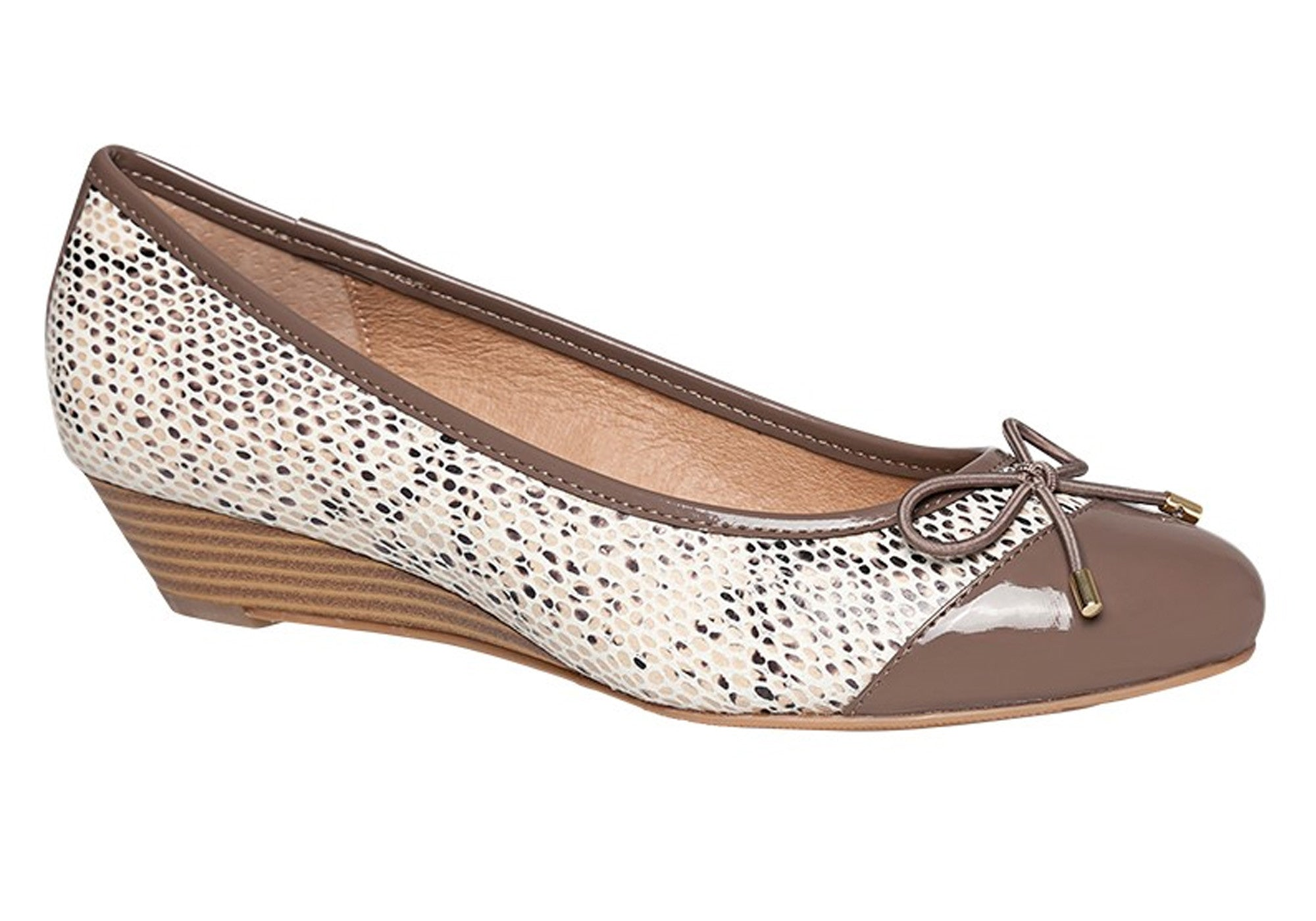 hush puppies prestin womens leather wedge shoes heels