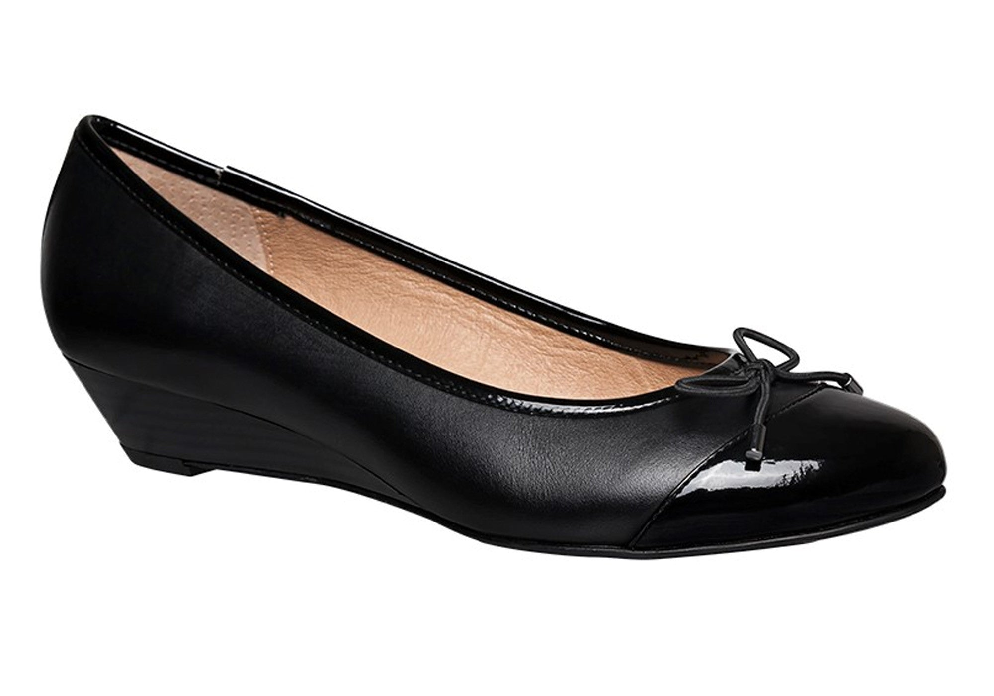 Hush-Puppies-Prestin-Womens-Leather-Wedge-Shoes-Heels-