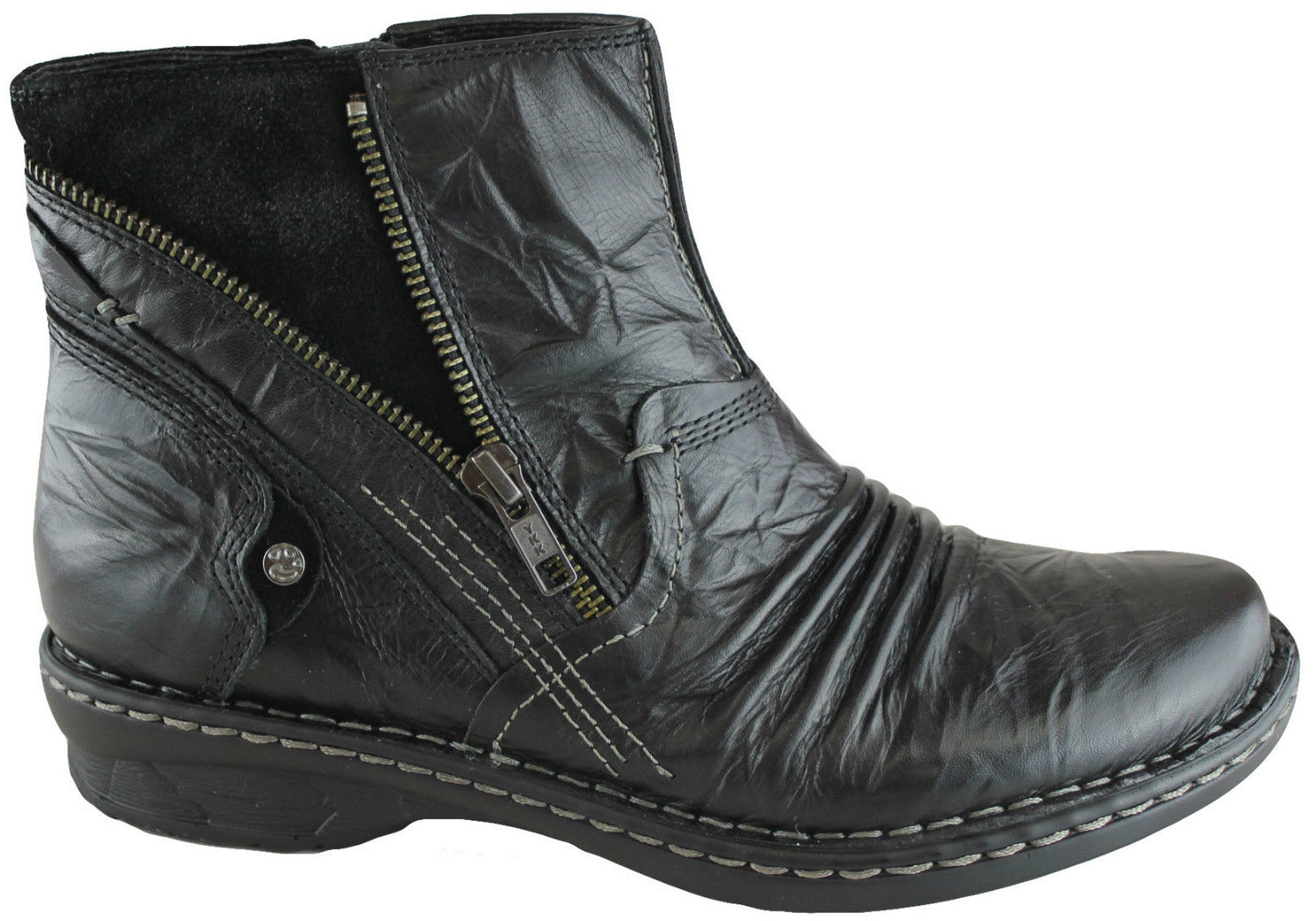 Earth Poplar Womens Leather Comfort Ankle Boots