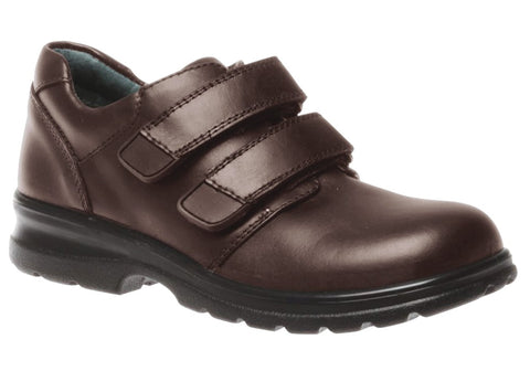 Clarks Lochie Brown School Shoes E Width (Medium Standard)