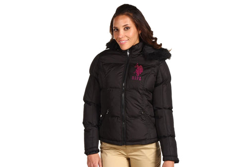 US Polo Assn Womens Warm Winter Zip Jacket