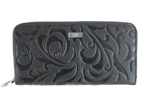 Deckas Paris Womens Pattern Leather Wallet