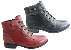 Planet Shoes Redhill Womens Comfortable Ankle Boots With Arch Support
