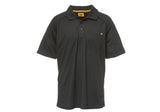 Caterpillar Mens Raglan Peformance SS Black Polo