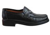 Slatters Rome Mens Slip On Leather Moccasin Shoes