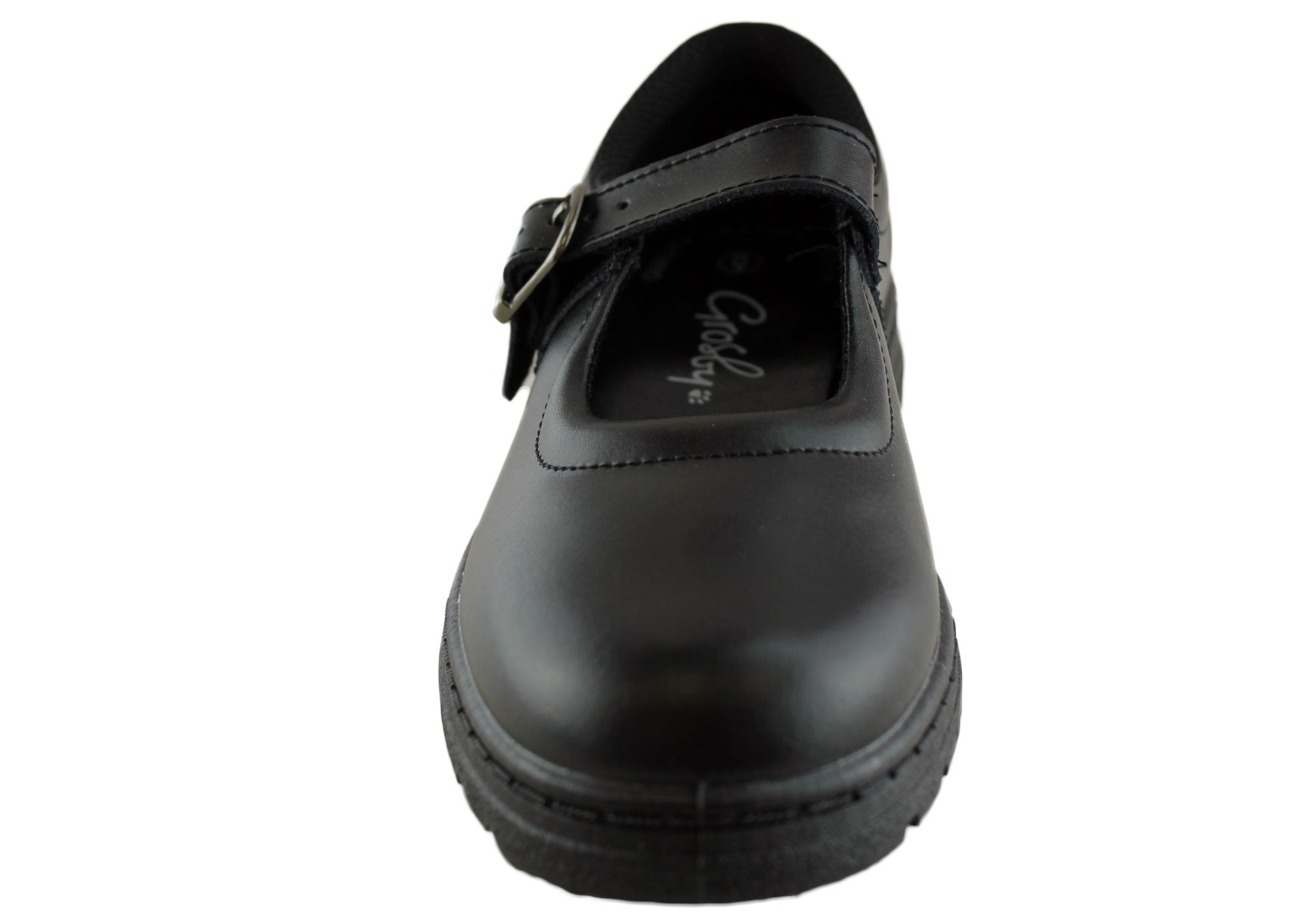 Grosby Ruler Older Girls/Womens Leather School Shoes