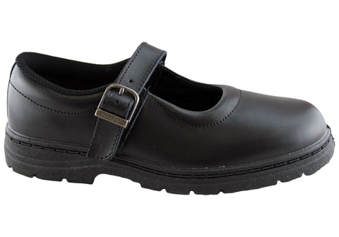 Grosby Ruler Womens Leather School Shoes