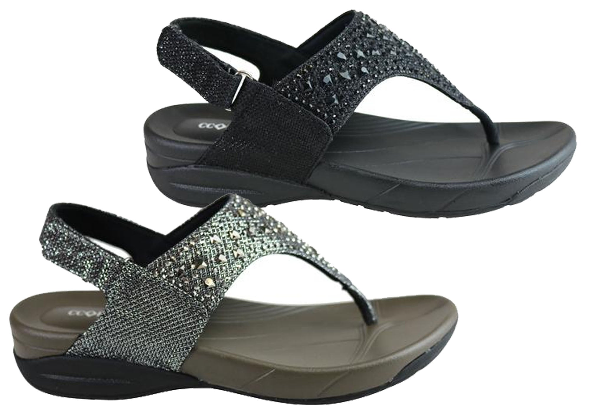 c6b8dfc75fc Details about New Cc Resorts Flan Womens Comfortable Cushioned Supportive  Sandals