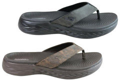 Skechers Mens On The Go 600 Seaport Cushioned Comfort Thongs Sandals