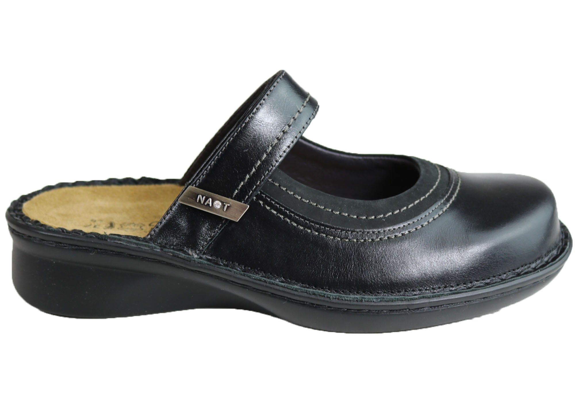 f6d52bba0f736 Black  Naot Trio Womens Comfort Cushioned Orthotic Friendly Clogs Mules ...