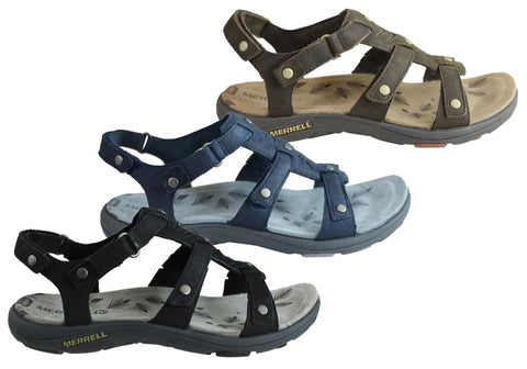 c266303a35a Merrell Womens Comfort Flat Supportive Adhera Three Strap II Sandals ...