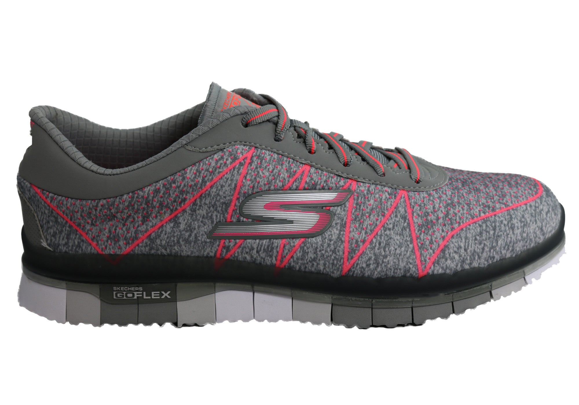 2676b6009ce8 Home Skechers Womens Go Flex Ability Lace Up Cushioned Sneakers. Gray  ...