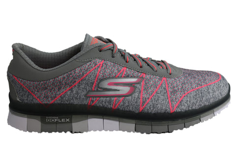 Skechers Womens Go Flex Ability Lace Up Cushioned Sneakers