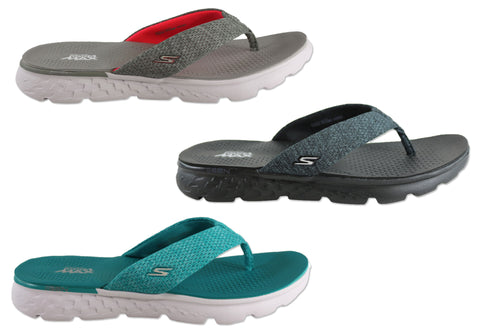 657c31e9a08f Skechers On The Go 400 Vivacity Womens Comfortable Flat Thong Sandals