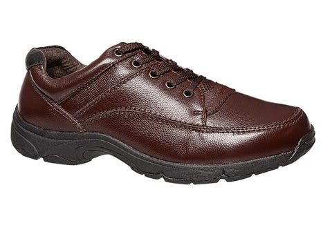 Hush Puppies Streeton Mens Extra Wide Brown Shoes