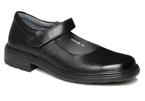 Clarks Indulge Senior Girls Black Mary Jane Leather School Shoes