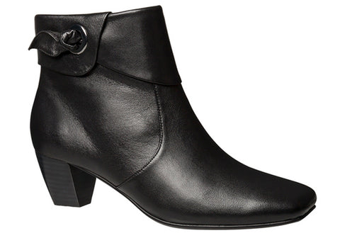 Hush Puppies Tamika Womens Leather Mid Heel Ankle Boots