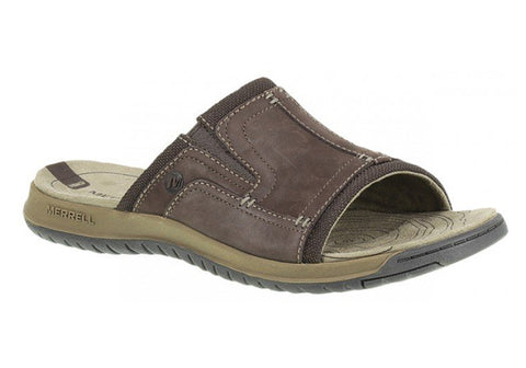 Merrell Traveler Tilt Slide Mens Leather Comfort Slides