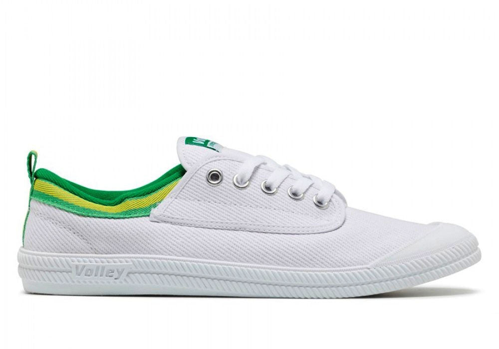 Home Volley International Mens Casual Lace Up Shoes. WHITE/GREEN/GOLD ...