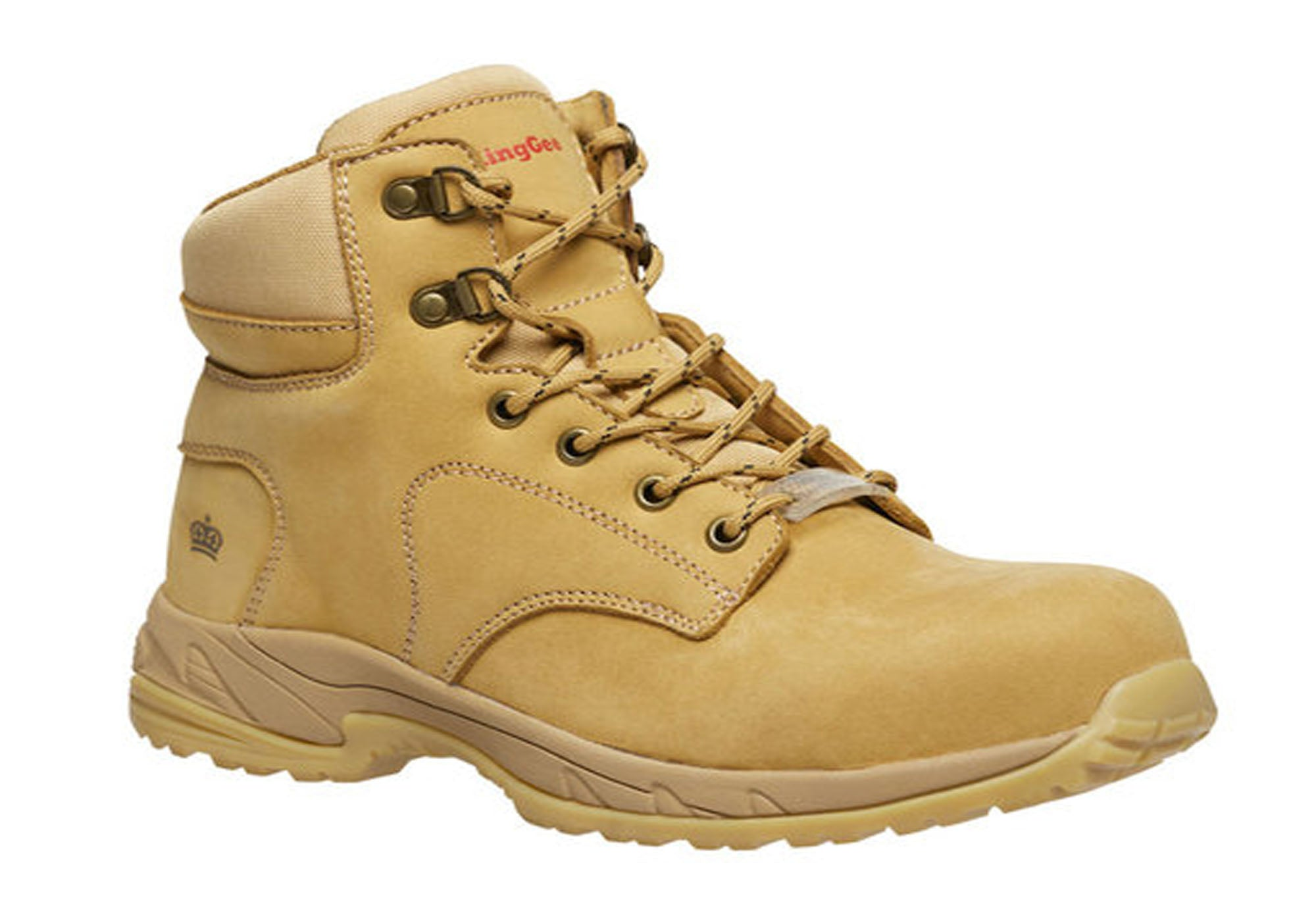NEW KING GEE WOMENS TRADIE ZIP WHEAT WORK BOOTS